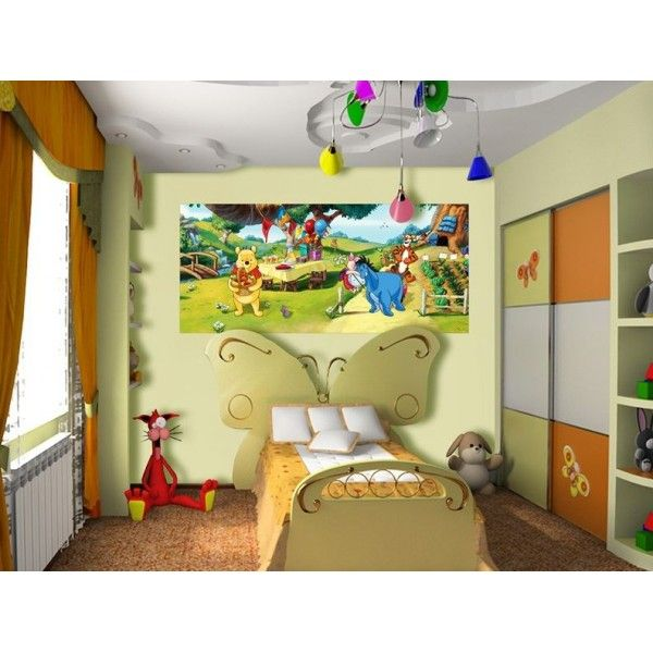 12 best d co winnie l 39 ourson images on pinterest disney cruise plan mural wall and duvet covers. Black Bedroom Furniture Sets. Home Design Ideas