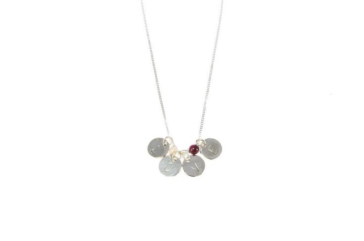 Sam Ubhi Sterling Sliver  'LOVE' Disks Necklace