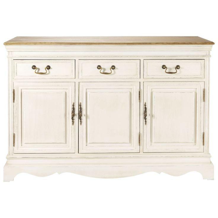 credenza color crema in legno di paulonia l 132 cm. Black Bedroom Furniture Sets. Home Design Ideas