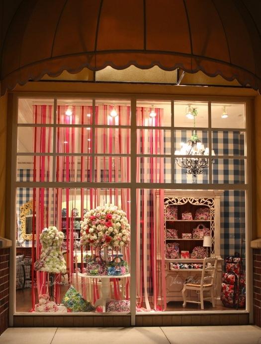 A Vera Bradley store window.