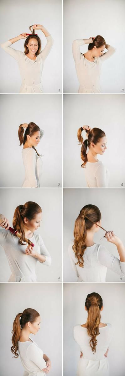Hermosa cola de caballo: cabello recogido con mucho estilo.