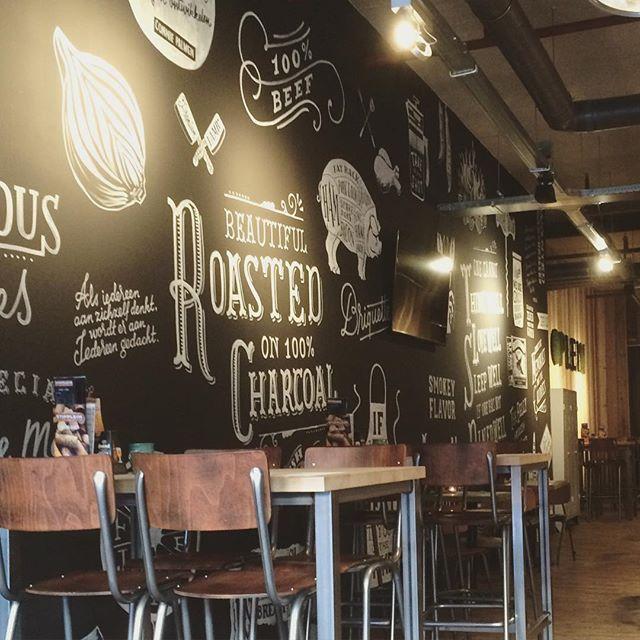 Magnetisch Krijtbord Keuken : lunchen bij @stippleinveenendaal in #Veenendaal. De enorme #krijtbord