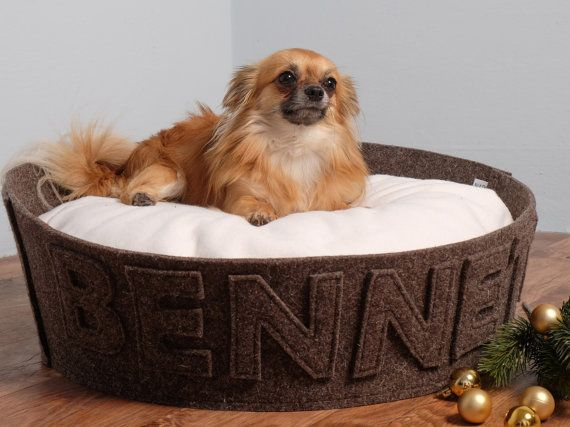Pet gift Dog gift Designer dog bed Modern cat bed by NapsDesign