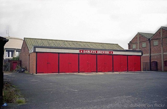 Darley`s Brewery Thorne South Yorkshire. This garage complex once housed a fleet of smart red liveried Leyland and Albion drays which had regular weekly routes as far north as Reighton Gap, south east to Chapel St Leonard`s west to Wakefield and south to Retford.  The photo owner has disabled commentin
