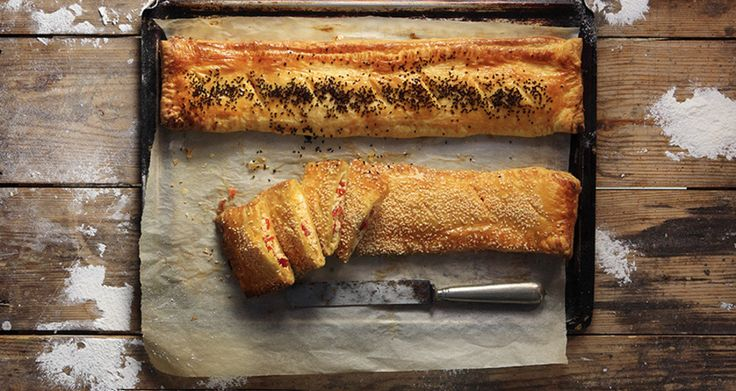 Sweet red pepper and cheese turnover
