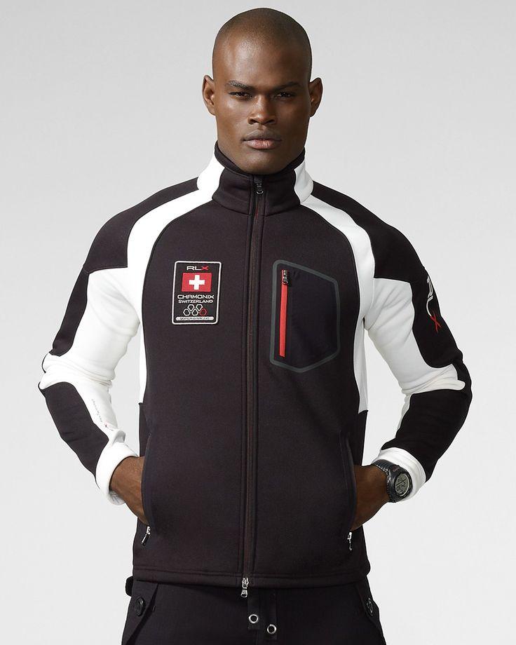 RLX Ralph Lauren Micro-Velour Mesh Jacket   Bloomingdale's