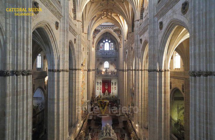 Catedral Nueva de #Salamanca , nave central http://arteviajero.com/