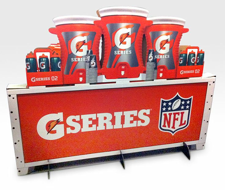 Gatorade NFL Floor Display  P.O.P.  NFL, Flooring, Display