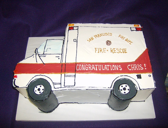 Ambulance cake for mark