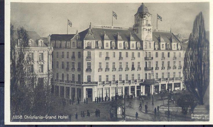 Christiania. Grand Hotel- brukt -1917. Utg Mittet