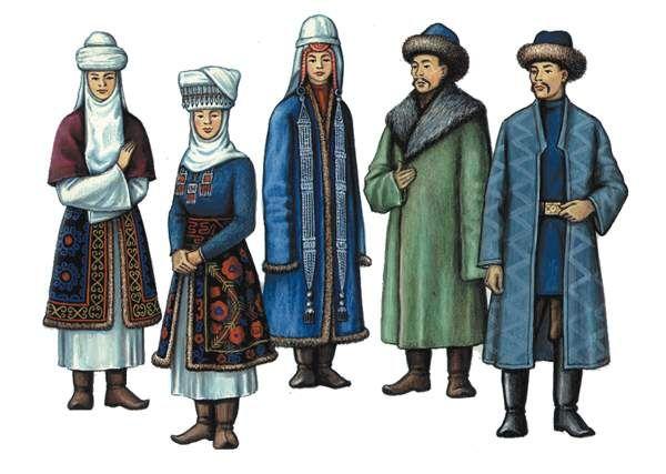 киргизская национальная одежда картинки море деревьев