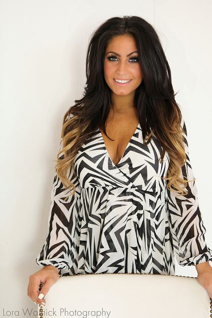 Tracy DiMarco's dark ombre hair [secret hair tip: her bottom hair color are extensions] | Photo  by LoraA444, via Flickr