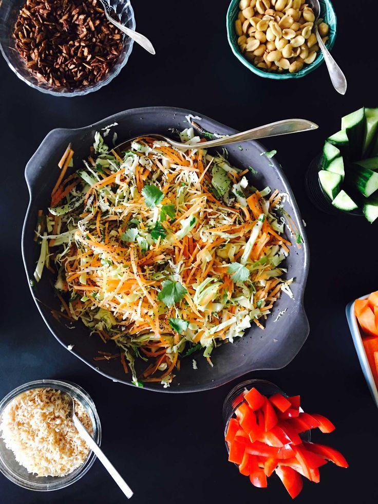 Indisk salat med appelsin, koriander og birkes - dejligt, let og sundt tilbehør til indisk mad - Opskrift her: Madbanditten.dk
