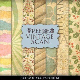 New Freebies Kit of Retro Style Papers
