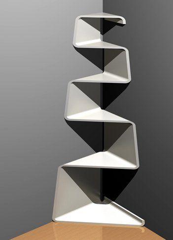 Corner Tree Shelf by Abhinav Dapke