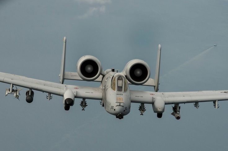 The US Air Force operates a plane called the A-10 Thunderbolt II that was designed to do just that.  Built around a fearsome 30 mm cannon that can shoot 70 armor-piercing rounds of depleted uranium ammunition per second, it is the most lethal close air support weapon in the world.
