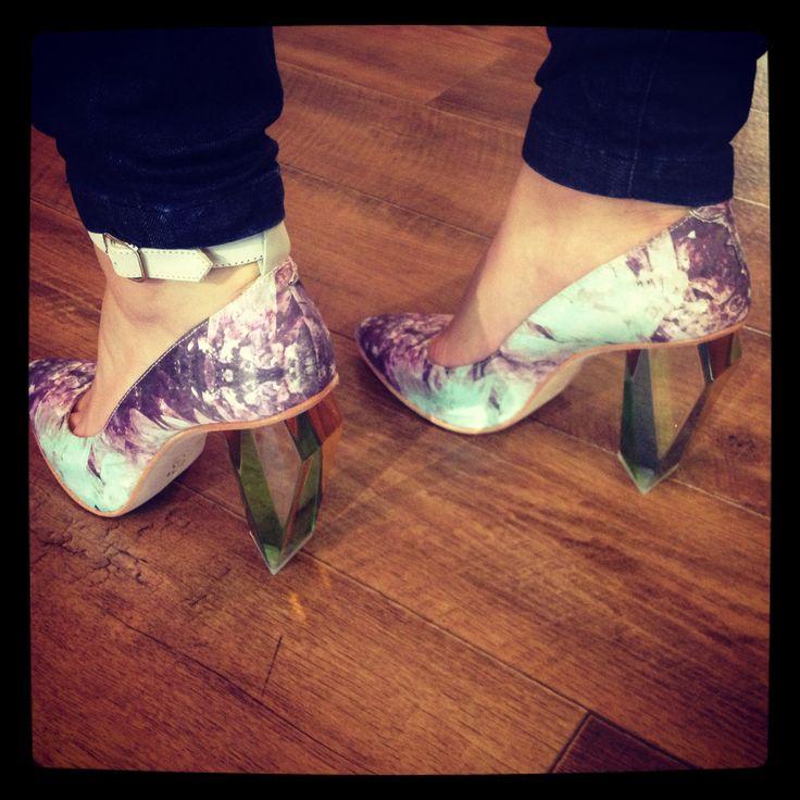 Miista Tara printed silk heels............. RUN IN. SERIOUSLY.