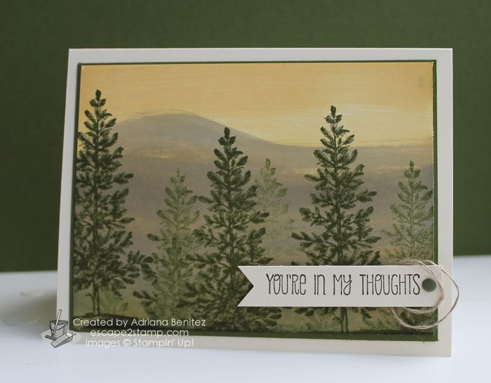 Escape2stamp: Stampin' Up! Lovely As A Tree