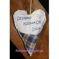 Lawendowa saszetka - serce dla Dziadka-kochamkropki