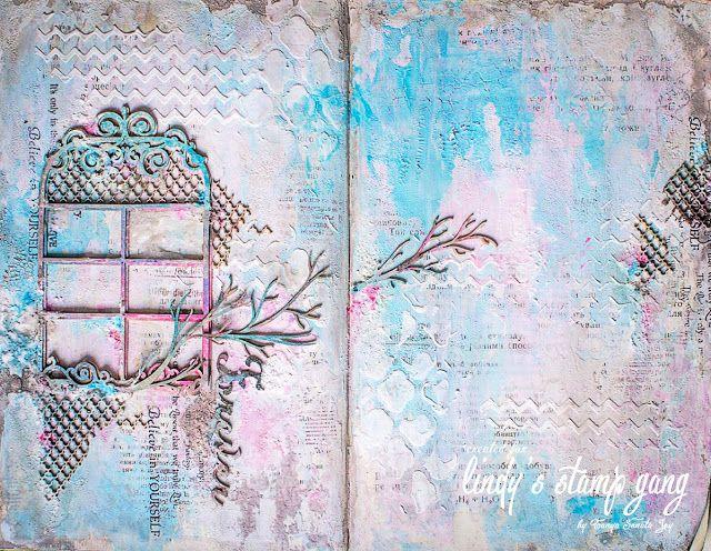 Enjoy your life: March COLOR CHALLENGE Lindy's Stamp Gang. Art Journal