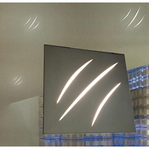 LAMPADA IN GESSO A LED 22W 24V EFFETTO GRAFFIO DA INCASSO A PARETE O SOFFITTO - IN GESSO - PORTA FARETTI - ILLUMINAZIONE LED - Negozio Online - Futur Print snc luceled.com