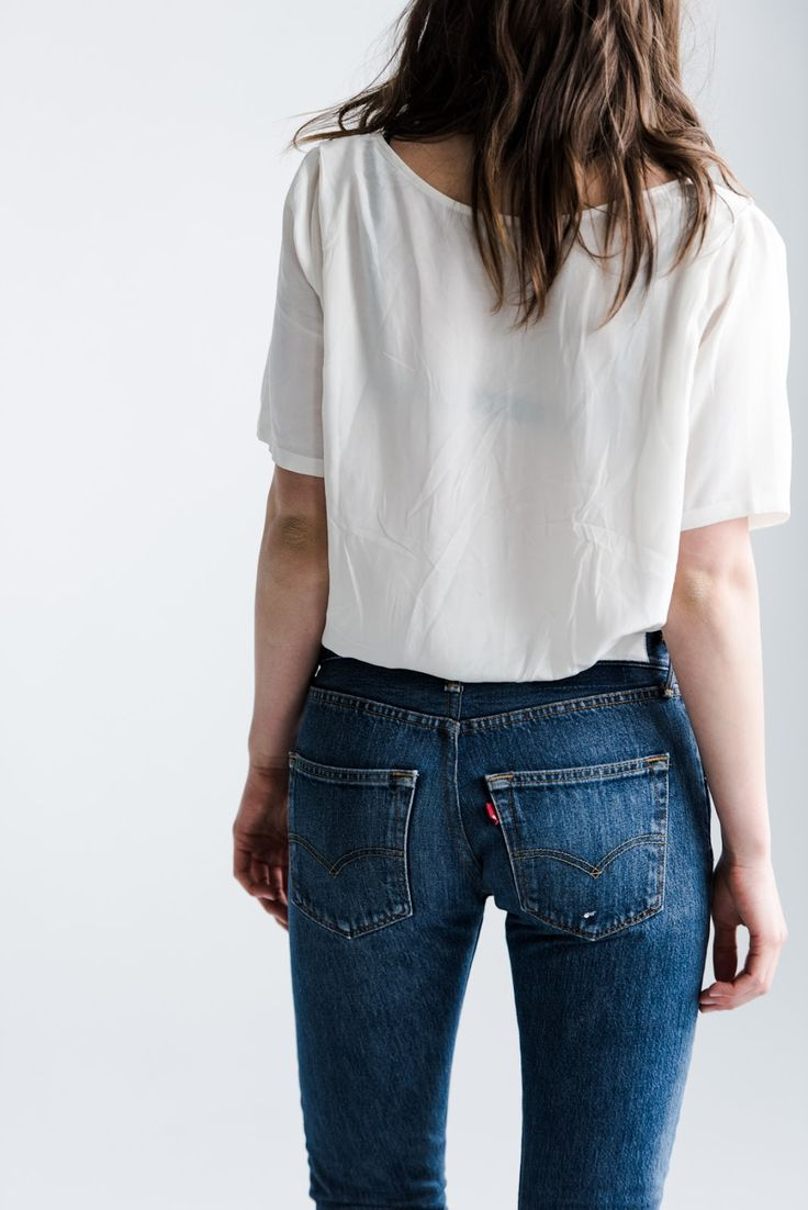 fire on the head : blue jeans, white shirt