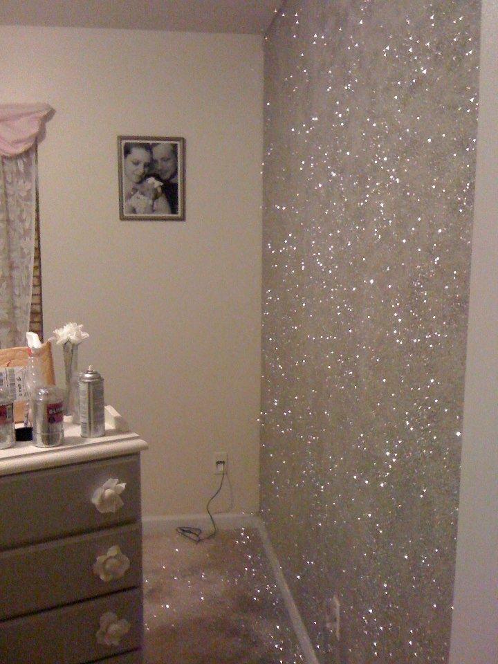 interieur muurverf glitter foto - 4