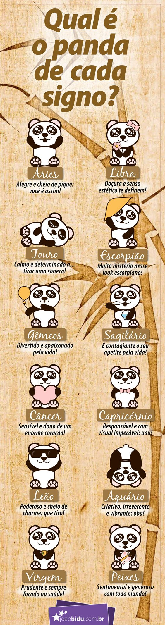 Conheça o Panda de cada signo!