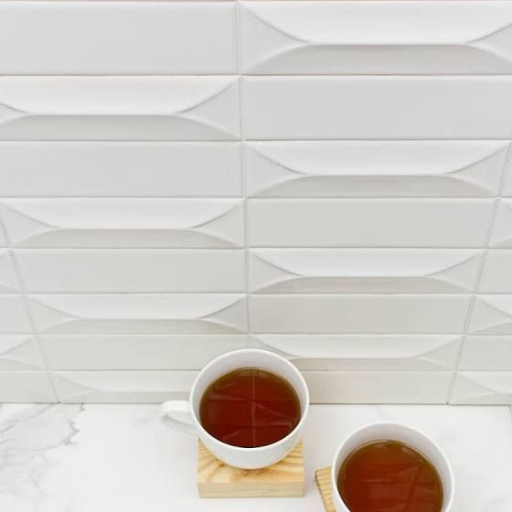 dimensional white subway tile - Google Search