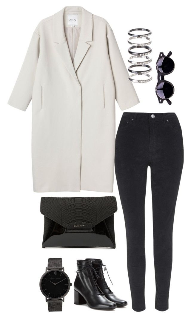 """""""Untitled #39"""" by maddiewoolley ❤ liked on Polyvore featuring Topshop, Monki, Givenchy, Larsson & Jennings, Yves Saint Laurent and M.N.G"""