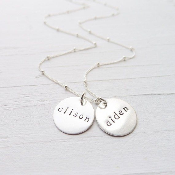 Bird necklace gift for mom mommy mom necklace grandma necklace custom charm necklace stamped letter mom and kids initial necklace