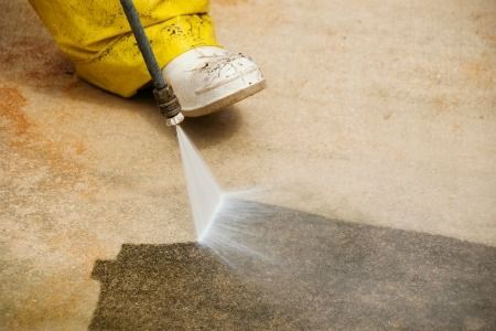 Look here for the step-by-step of paint removal from concrete.