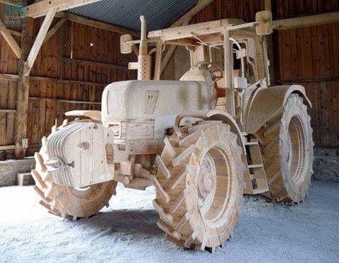 Wooden tractor!
