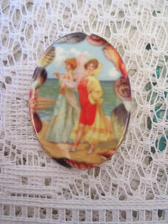 Cameo mujeres en la playa, Suministros artesanos, Abalorios