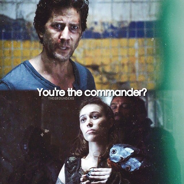 "|| The 100 - CW || #The100 || Marcus Kane || Lexa || But look at her face though, she's like, ""Bitch, you're damn right I am."" 
