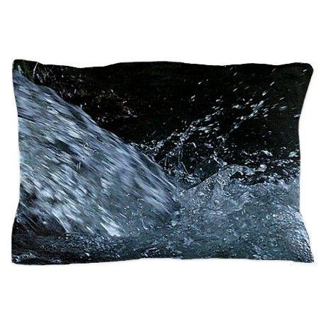 Water splash Pillow Case on CafePress.com by fotosbykarin #pillows #dekokissen #water #splash #black #photography #fotosbykarin #KarinRavasio #cafepress