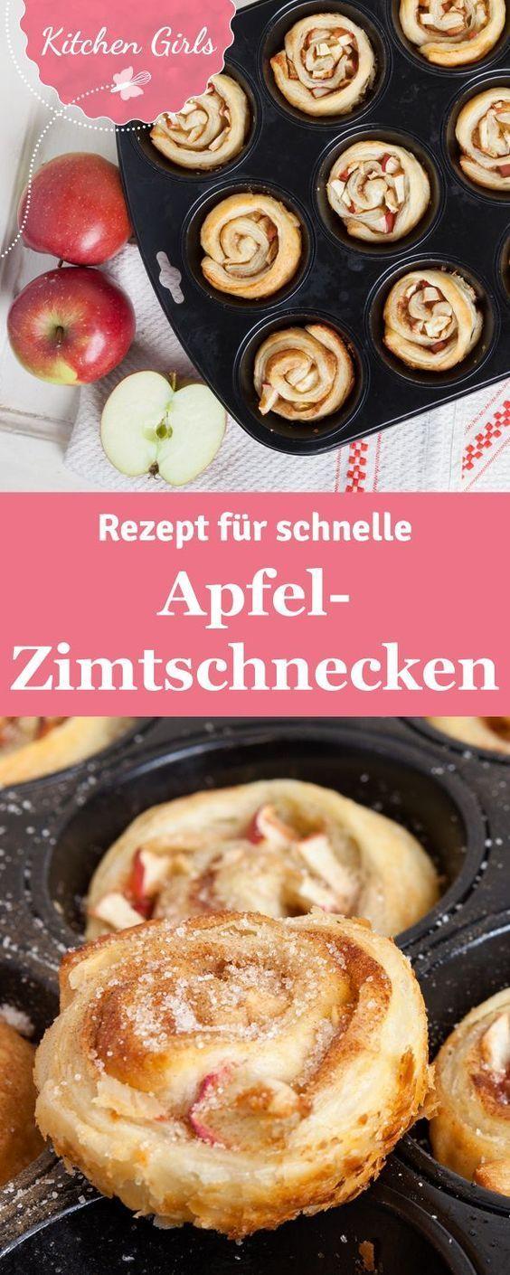 Apfel-Zimtschnecken aus der Muffinform