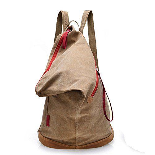 Fashion Plaza Canvas Unisex Tasche retro literarischen Hochschule Stil Schultertasche Messenger Bag koreanische Version C5069 (Art4-khaki)