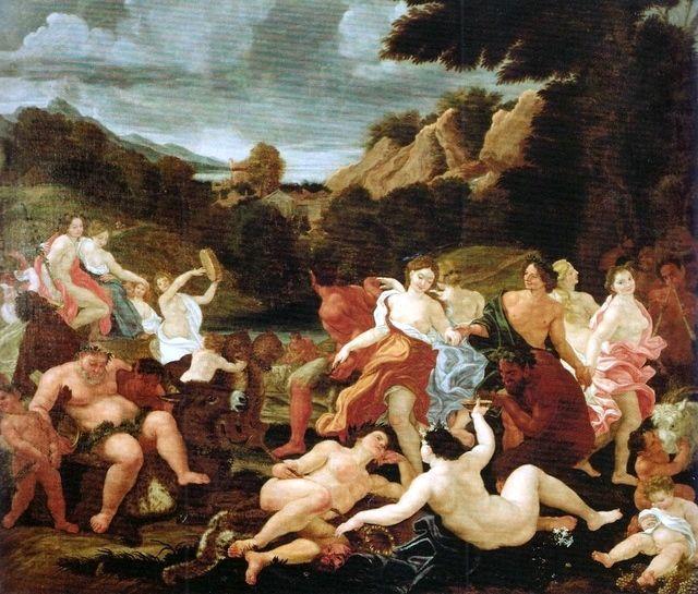 Triunfo de Baco e Ariadne - Giovanni Battista Gaulli