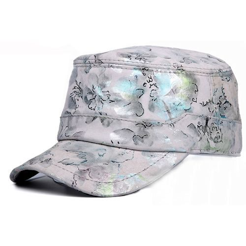 baseball caps wholesale los angeles cheap in bulk for dogs uk silver gray floral leather hip hop hippie hipster cap hat steam punk rock fashion