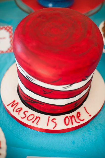 Cat In The Hat Birthday Party Pinterest
