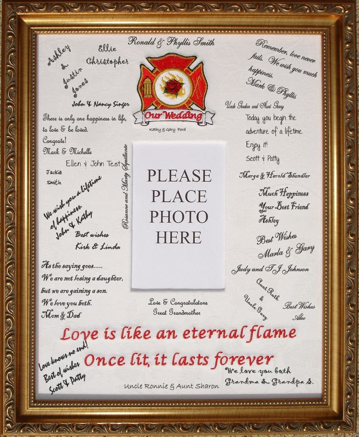 So us! Just need to customize the Maltese cross!  firefighter Wedding Guest Book - The Wedding Specialists