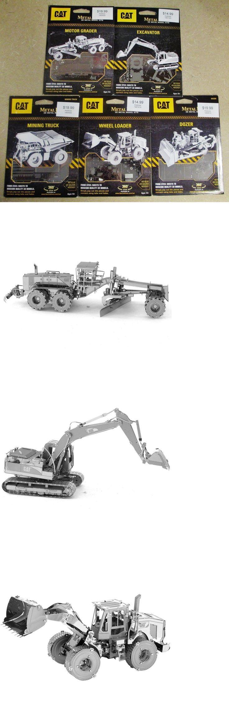 Other Models and Kits 774: Set Of 5 Metal Earth 3D Laser Cut Models Cat Grader,Dozer,Excavator,Loader Truck -> BUY IT NOW ONLY: $43 on eBay!