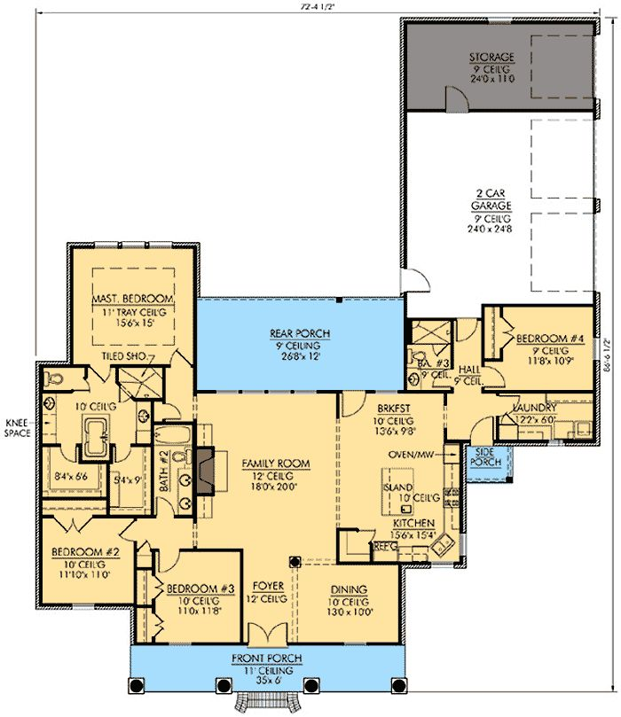 37 best house plans under 2500sq ft images on pinterest for House plans with guest suite