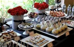 chic dessert table