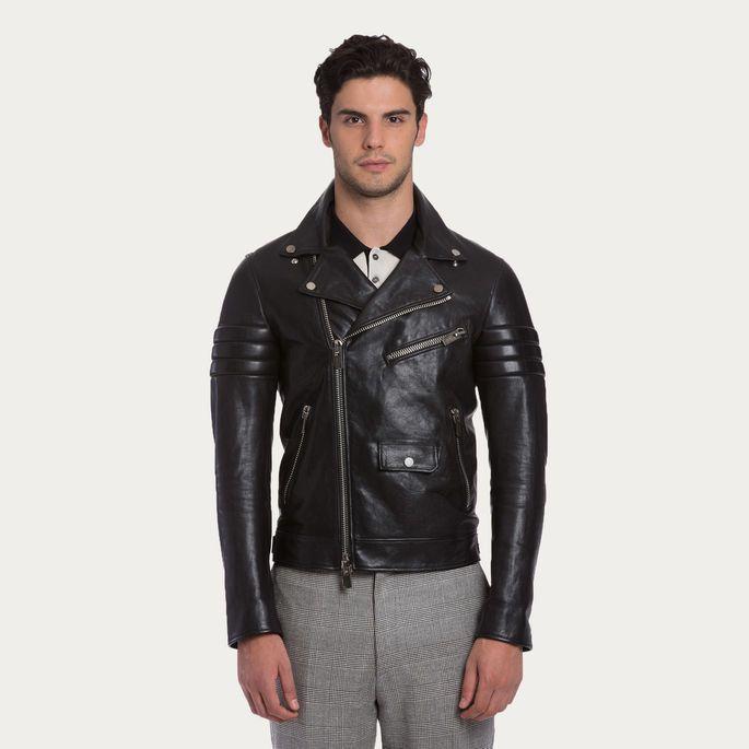 $3,995, Black Leather Biker Jacket: Leather Biker Jacket Black Leather Biker Jacket. Sold by Bally. Click for more info: https://lookastic.com/men/shop_items/290923/redirect