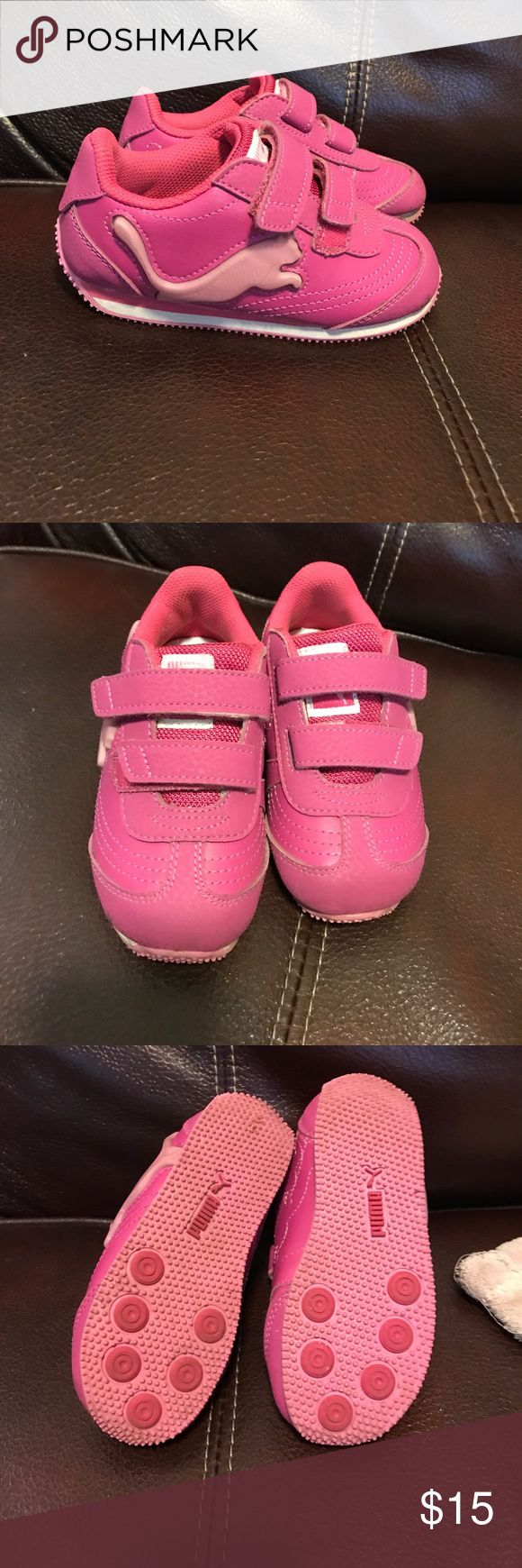 Puma Girl Toddler shoes Like new! Used a handful of times! Size 8 Puma Shoes