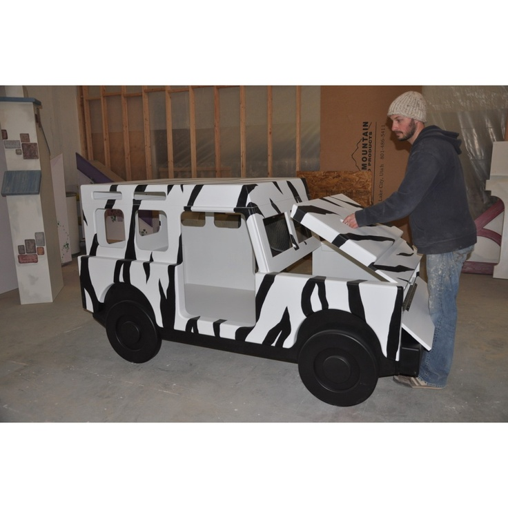 Jeep Safari Bed - Removable Hood for Access