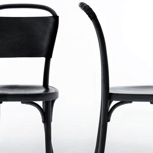 Vilda 3 stol - svart, svart läder - Stolar – Möbler från Svenssons i Lammhult