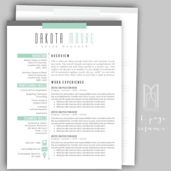 Best All Of My Modern  Creative Resume Templates Images On